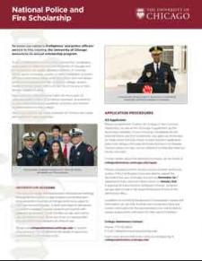 UChicago National Police and Fire Fighter Scholarship
