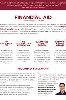 No barriers -- financial aid document