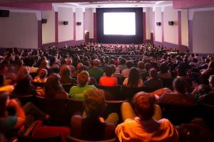 A crowded movie theater