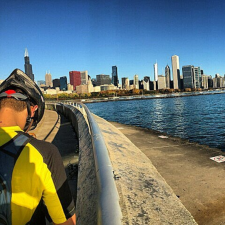 Instagram photo of biking on the Lakefront Trail