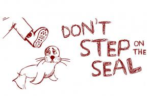 Don't step on the seal illustration