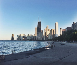 Instagram photo of Chicago skyline