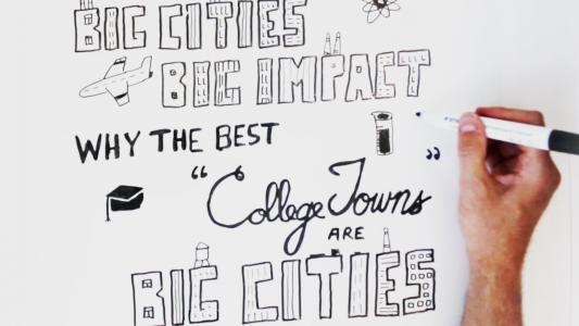 "Embedded thumbnail for Why the Best ""College Towns"" are Big Cities"